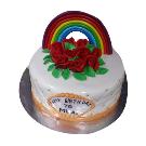 Rose & Rainbow Cake