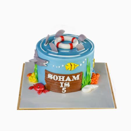 Sea Shark Theme Cake