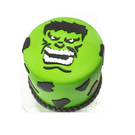 Hulk Face Cake